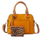 Carlos by Carlos Santana Domed Satchel with Wristlet Pouch