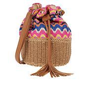 Carlos by Carlos Santana Straw and Paper Bucket Bag