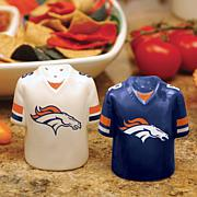 Ceramic Salt and Pepper Shakers - Denver Broncos