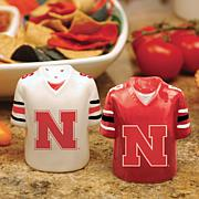 Ceramic Salt and Pepper Shakers - Nebraska
