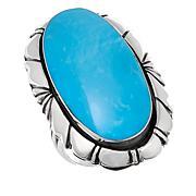 Chaco Canyon Oval Kingman Turquoise Ring