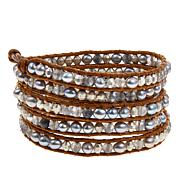 Chan Luu Cultured Pearl and Quartz Wrap Bracelet