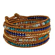 Chan Luu Lapis and Multigem Wrap Bracelet