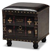 Charlier Faux Leather Upholstered Wood Storage Ottoman