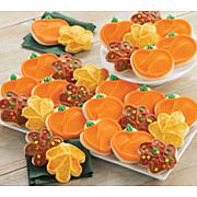 Cheryl's 24-piece Buttercream Frosted Leaf and Pumpkin Cutout Cookies
