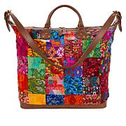 Clever Carriage Hamptons Patchwork Weekender