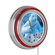 Coca-Cola Neon Clock - Polar Bears with Colas