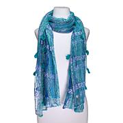 Collection 18 Space Dye Open-Weave Scarf