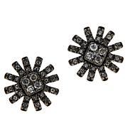 Colleen Lopez .25ctw Colored Diamond Sunburst Stud Earrings