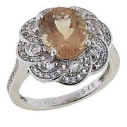 Colleen Lopez 2.87ctw Oregon Sunstone and White Topaz Ring