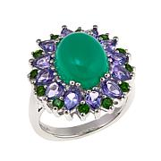 Colleen Lopez Chrysoprase, Tanzanite, Chrome Diopside and Gem Ring