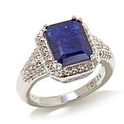 Colleen Lopez Emerald-Cut Sapphire & White Topaz Ring