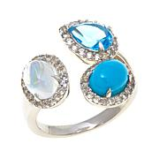 Colleen Lopez Moonstone, Turquoise and Gem 3-Stone Ring