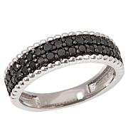 Colleen Lopez Sterling Silver 0.60ctw Black Diamond Band Ring