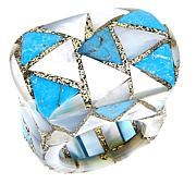Colleen Lopez  Turquoise and Mother-of-Pearl Inlay Ring