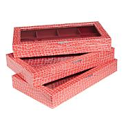 Colleen's Prestige™ 3-Piece Croco-Embossed Large Jewelry Box Set