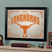 Collegiate Sports Team Frame Mirror - Texas Longhorns