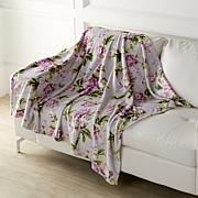 Concierge Collection Elements Floral-Printed Plush Throw