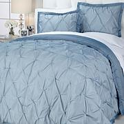 Concierge Collection Pinstripe Pintuck Comforter Set