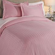 Concierge Collection Woven Stripe Duvet Set
