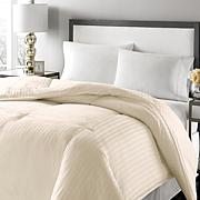 Concierge Platinum 350TC Damask Stripe Down Comforter