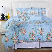 Cottage Collection Printed Ruffle 6-piece Comforter Set - Blue Floral