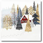 Courtside Market Christmas Chalet I Canvas Wall Art