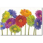 """Courtside Market Colorful Gerbera Daisies Canvas Wall Art - 12"""" x 18"""""""