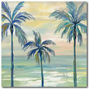 Courtside Market Marine Layer Palms Crop 16x16 Canvas Wall Art