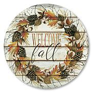 """Courtside Market Welcome Fall 8""""x 8"""" Circular Panel"""