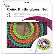 Cousin Easy Knitting Round Loom Kit - 6 Piece