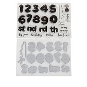 Crafter's Companion Balloon Numbers Stamp and Die Set