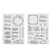 Crafter's Companion Everyday Clear Stamps 2-pack