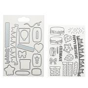 Crafter's Companion Gemini Birthday Parade Favor Box Stamp & Die Kit