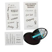Crafter's Companion Quirky Sentiment Clear Stamp Set and Ink Pad