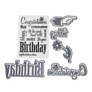 Crafter's Companion Sheena Birthday Stamp and Die Set