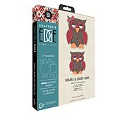 Crafter's Edge Mama and Baby Owl 17-piece Fabric Die Set