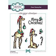 Creative Expressions Designer Boutique Giraffe Greetings A6 Stamp Set
