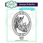 Creative Expressions Rhino Pre Cut Stamp Co-ords with CED1315