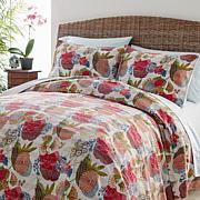Curations 100% Cotton Kantha Coverlet 3-piece Coverlet Set - White