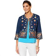 Curations Embroidered Cropped Jacket