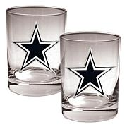 Dallas Cowboys 2pc Rocks Glass Set