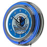 Dallas Mavericks Double Ring Neon Clock