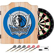 Dallas Mavericks NBA Wood Dart Cabinet Set