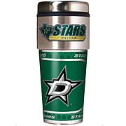 Dallas Stars Travel Tumbler w/ Metallic Graphics and Team Logo