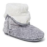 Dearfoams Women's Beth Furry Foldover Slipper Boot