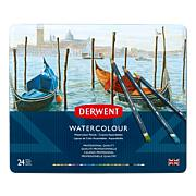 Derwent Watercolor Pencil Tin Set - 24-count