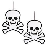 Design Imports 2-piece Hanging Foam Skull & Crossbones Set