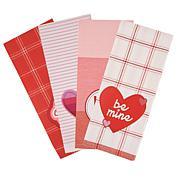 Design Imports 4-Piece Love Embellished Kitchen Towels