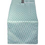 "Design Imports Aqua Diamond Outdoor Table Runner 14""x108"""
